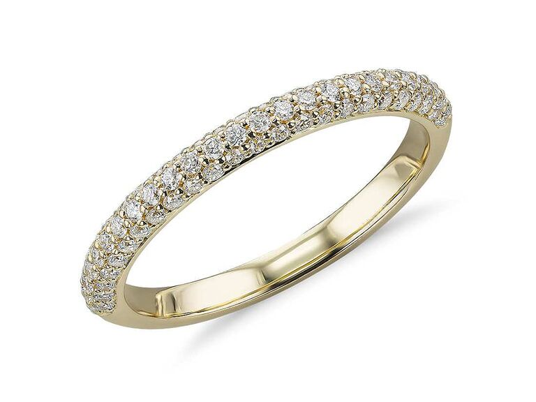 Diamond band modern 10 year anniversary gift  sc 1 st  The Knot & 10-Year Anniversary Gift Ideas for Her Him and Them
