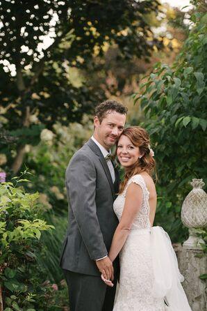 Rustic Garden Wedding Lace Dress