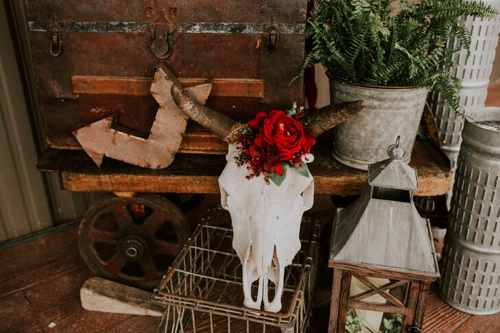 Cow Skull Floral Arrangement
