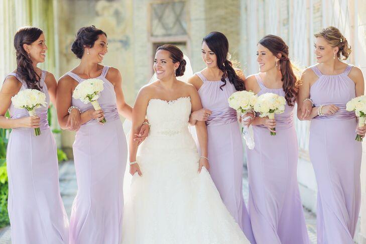2fa5c1533c3 Lavender David s Bridal Halter Bridesmaid Dresses