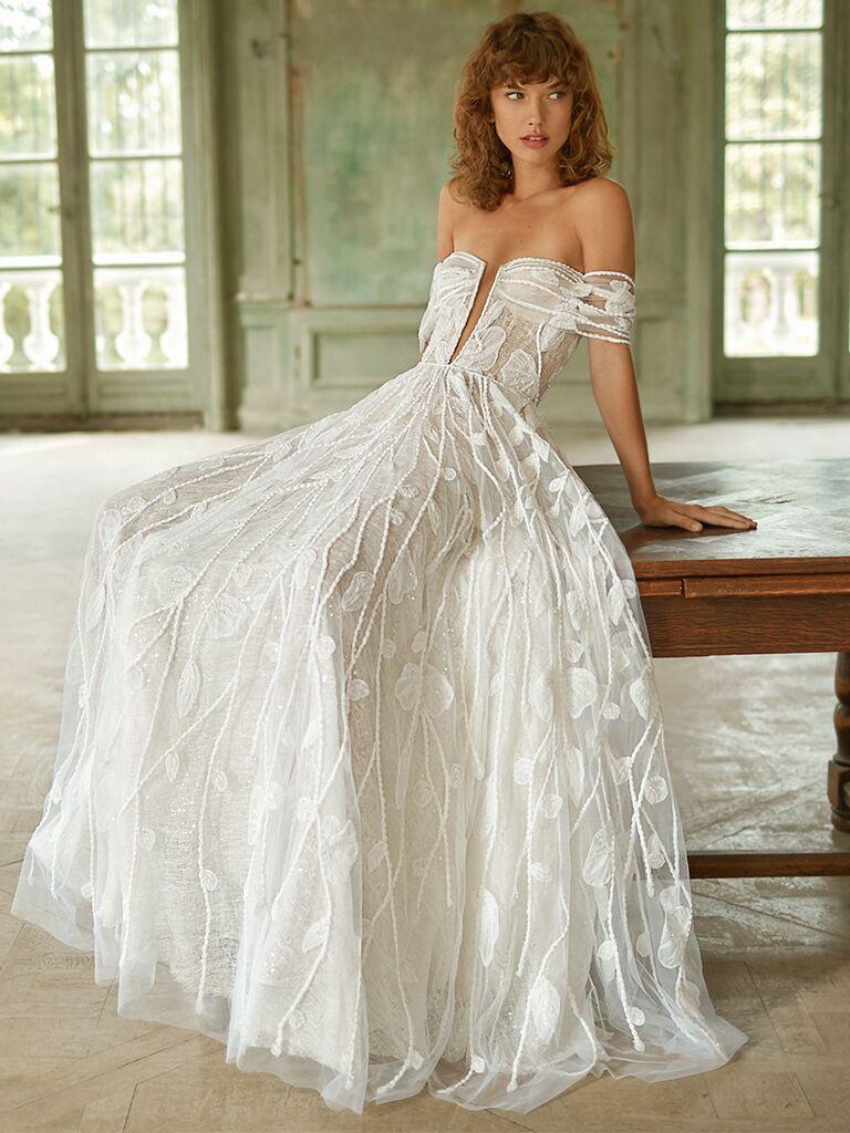 Dana Harel off-the-shoulder V-neck dress