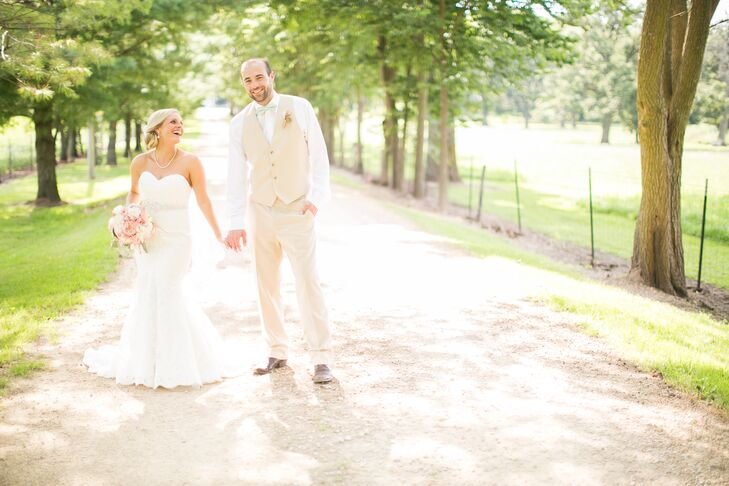 Brittany Albrecht (25 and a registered nurse) and Adam Case's (28 and a global pricing analyst) wedding was inspired by their passion for the outdoors