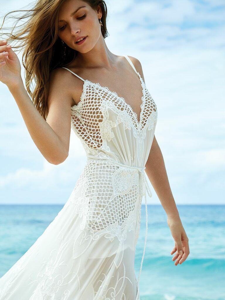 GALA by Galia Lahav wedding dress with netted cutouts
