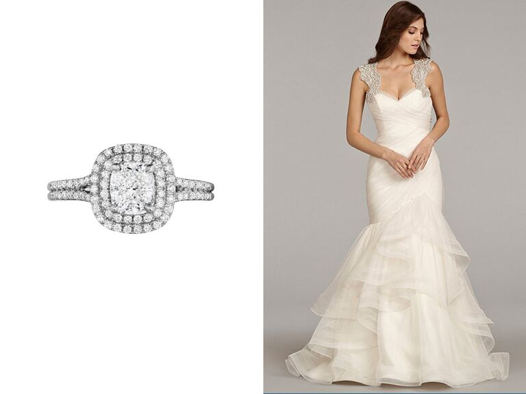 Find Your Wedding Dress Based On Your Engagement Ring