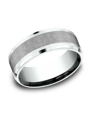 Benchmark CF458070GTA14KW White Gold, Tantalum Wedding Ring