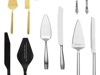 cake knives and servers