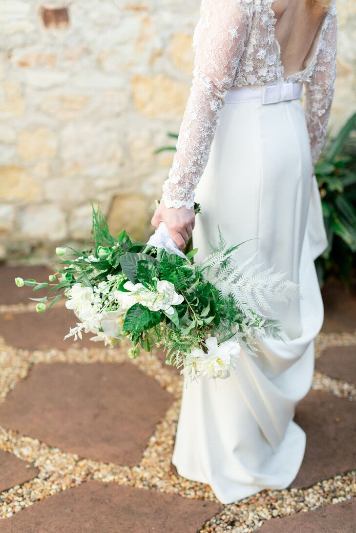 Classic Bouquet of White Gardenias and Greenery