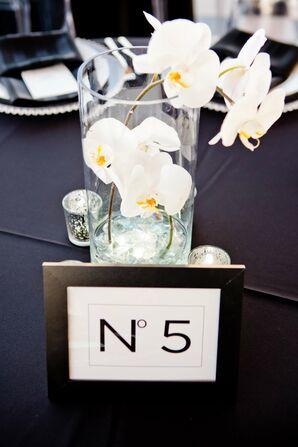 White Orchid Wedding Reception Centerpieces