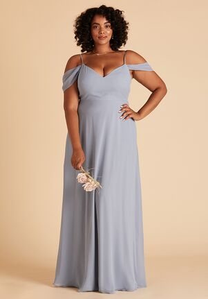 Birdy Grey Devin Convertible Curve Dress in Dusty Blue Sweetheart Bridesmaid Dress