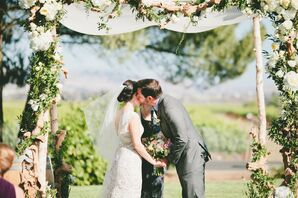 Lush, Romantic Birch Chuppah