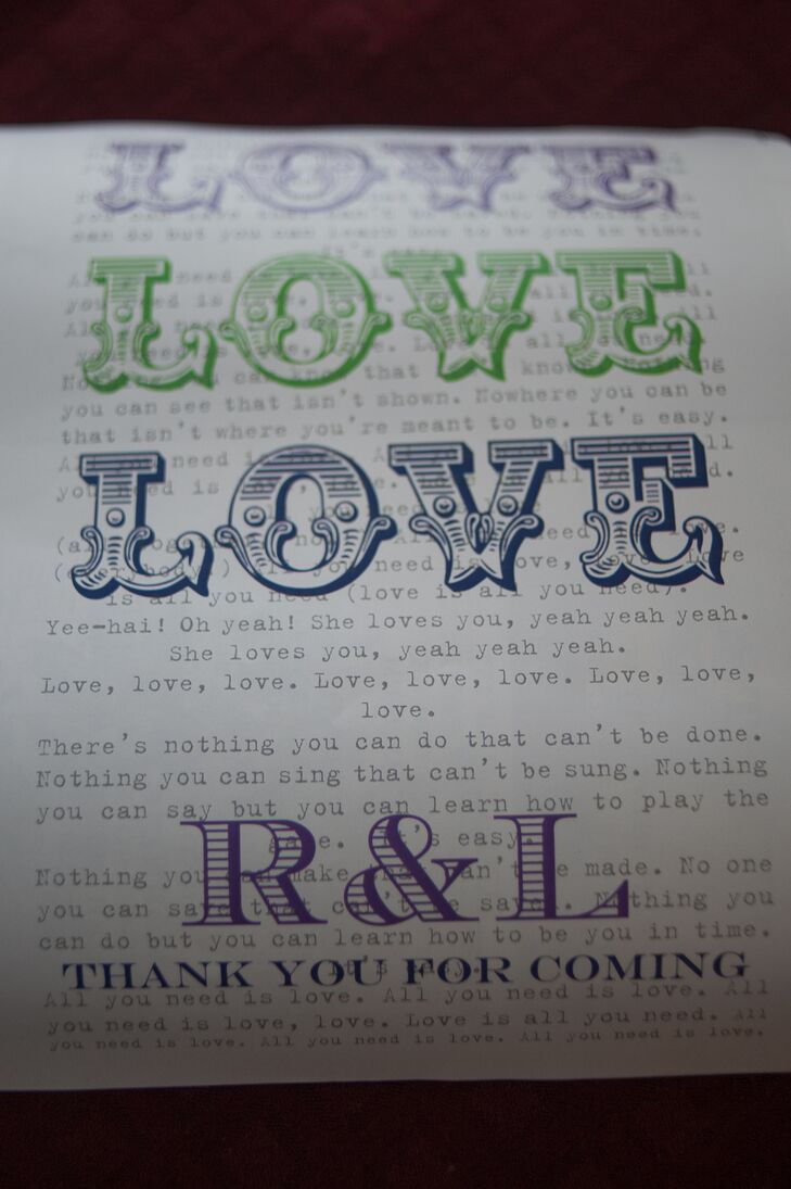 'All You Need Is Love' Thank-You Notes