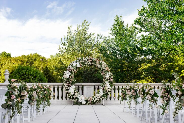 Floral Wedding Arch at The Palace at Somerset in Somerset, New Jersey