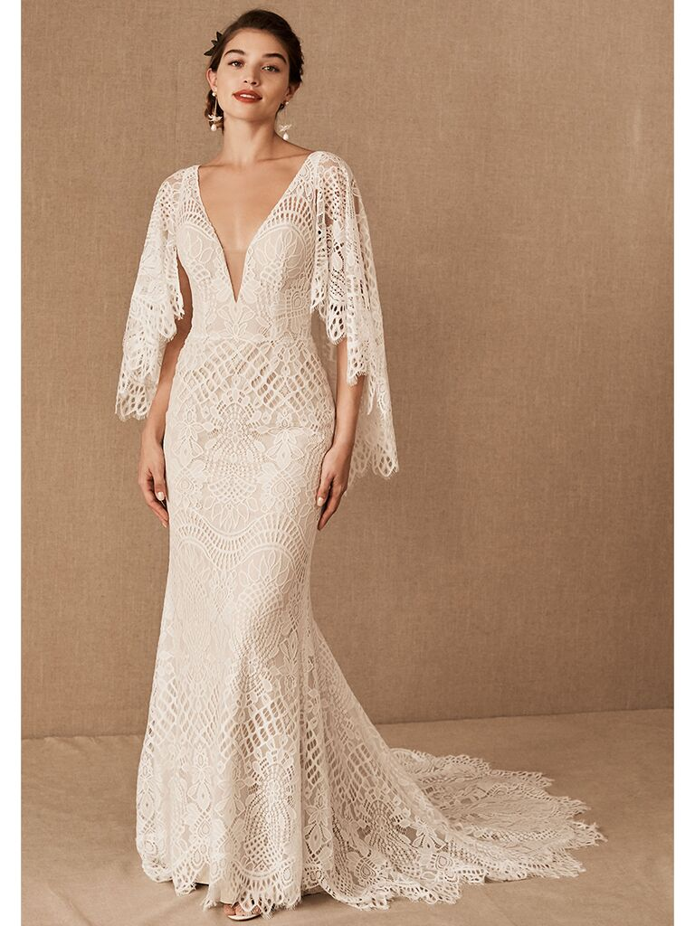 BHLDN fit-and-flare lace dress