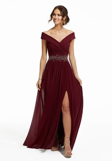 MGNY 72035 Red Mother Of The Bride Dress