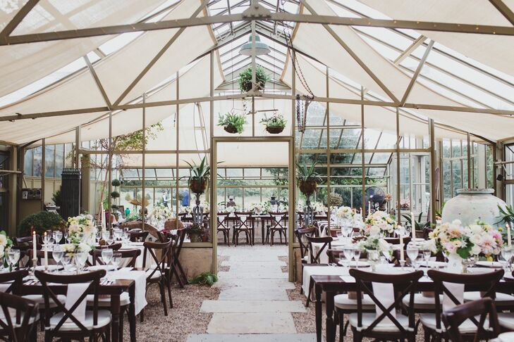 Tented Greenhouse Reception
