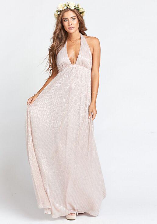 46a9a3806dd Show Me Your Mumu Luna Halter Dress - Magic Mauve Glimmer Halter Bridesmaid  Dress