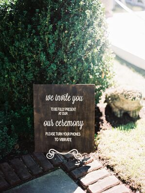 Rustic Wedding Etiquette Sign