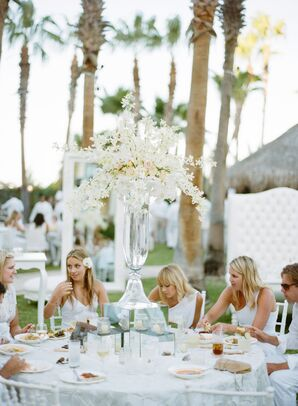 Tall White Floral Centerpieces