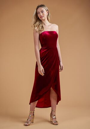 B2 Bridesmaids by Jasmine B223063 Strapless Bridesmaid Dress