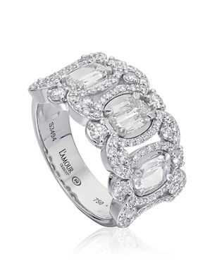 Christopher Designs L287 White Gold Wedding Ring