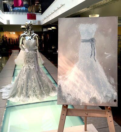 Felix Art Studio-Painting your Wedding Dress on Canvas