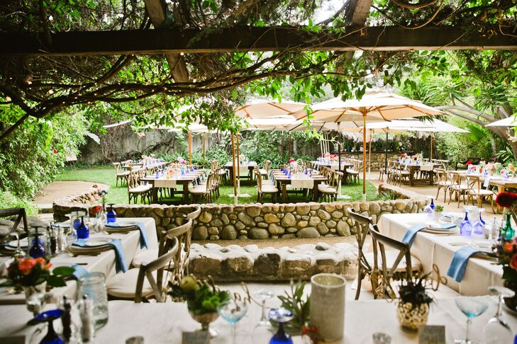"""""""The grounds are nothing short of amazing,"""" Mallory says. """"It's like you're entering into a tropical lush dreamland. The theme we wanted was actually the feel of this venue."""""""
