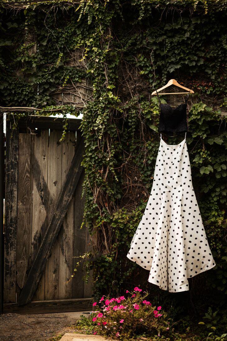 Black And White Polka Dot Wedding Dress