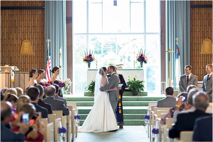 Before heading to the New Seabury Country Club for a night of dinner and dancing, Carrie and Josh exchanged vows in a traditional church ceremony.