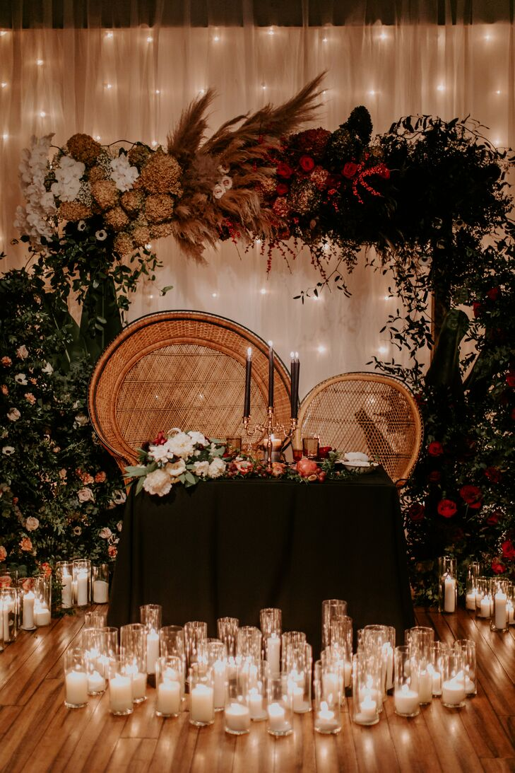 Peacock Chair and Sweetheart Table at Philadelphia Wedding