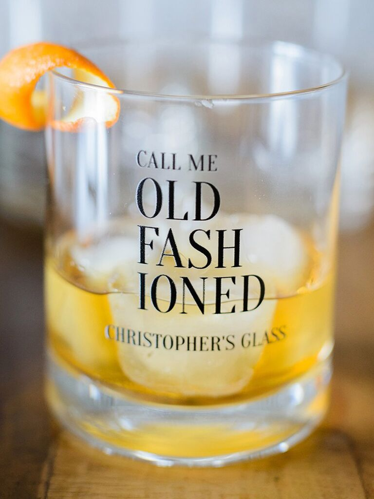 Custom Old Fashioned glass gift for father-in-law