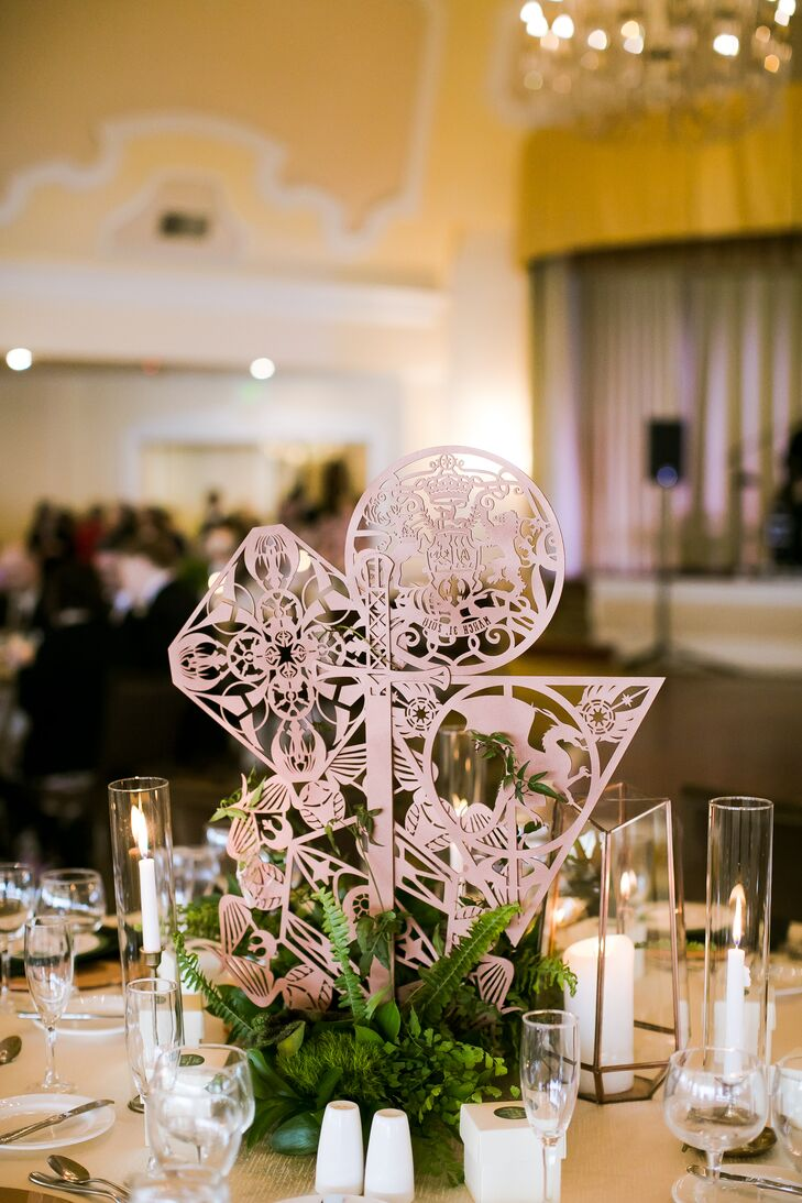 Custom Laser-Cut Wood Centerpieces