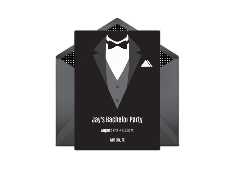 Bachelor party digital invitation
