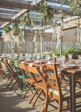 outdoor reception | Paper Antler | Blog.theknot.com
