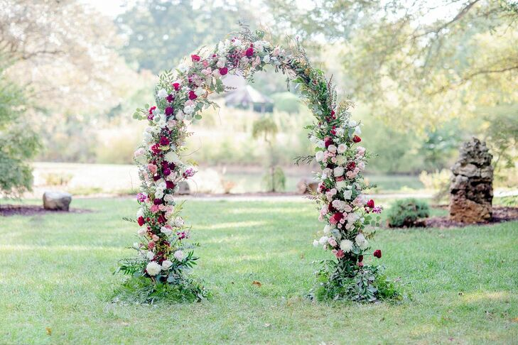 Floral Arch for Wedding at the University of Illinois