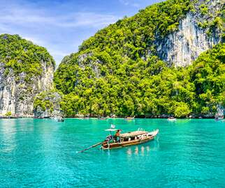 Thailand, Asia with boat