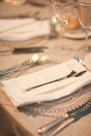 Lavender Accented Menu Cards