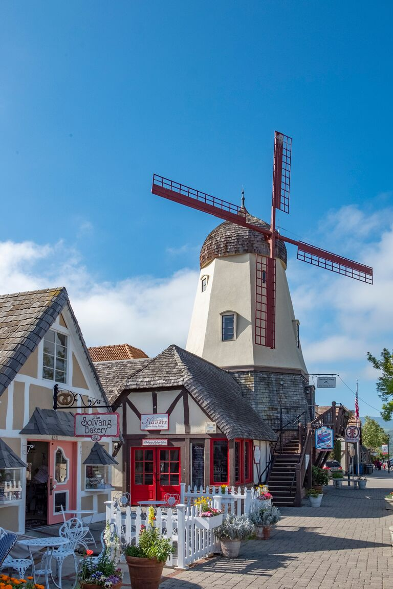 Windmill in Solveng, California