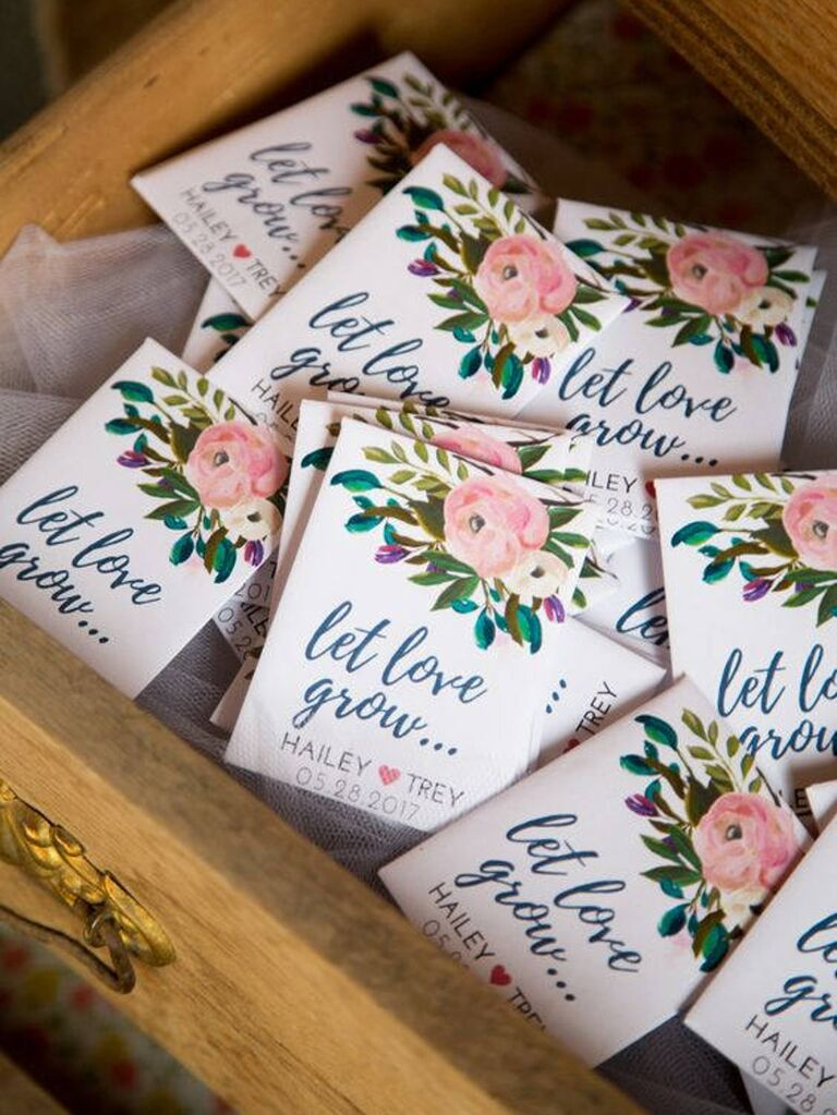 Eco Friendly Wedding Favor Seed Packets
