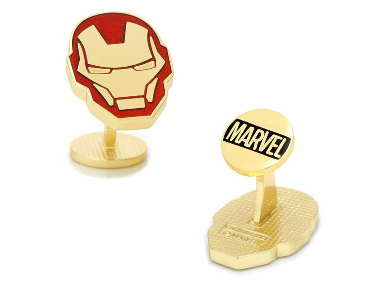 Iron Man red and gold cuff links