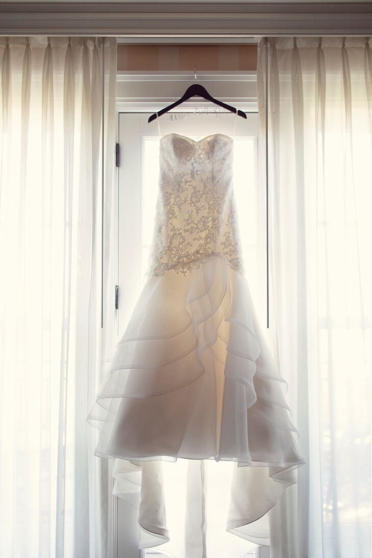 Strapless Mermaid-Fit Wedding Dress with Custom Crystal Beading