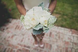 Simple White Bridesmaid Bouquet