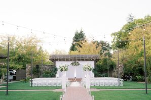 Ceremony Setup for Wedding in Yountville, California
