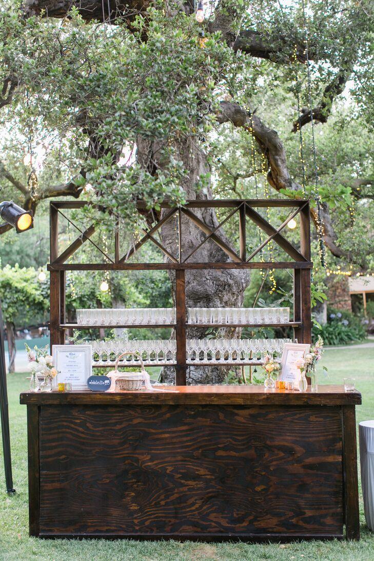 Rustic Wood Cocktail Bar