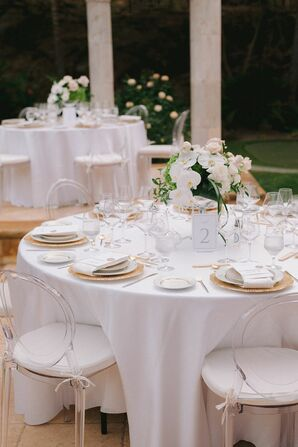 Neutral Tabletop With Ghost Chairs in Granite Bay, California