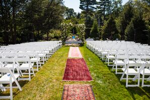 Ceremony Aisle Lined With Persian Rugs