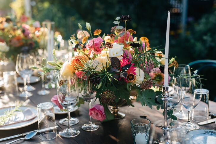 Colorful Garden-Inspired Centerpieces