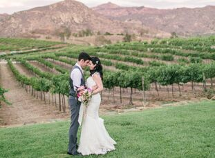 Surrounded by the vineyards with a backdrop of the mountain ranges, Orfila Vineyards in Escondido, California provided the perfect setting for this ga