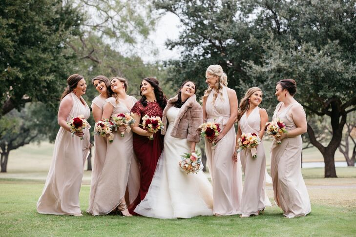 Champagne-Colored Joanna August Bridesmaid Dresses