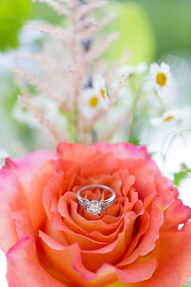 Dan designed Natalia's engagement ring, drawing inspiration from the antique Polish designs in the jewelery Natalia loved.