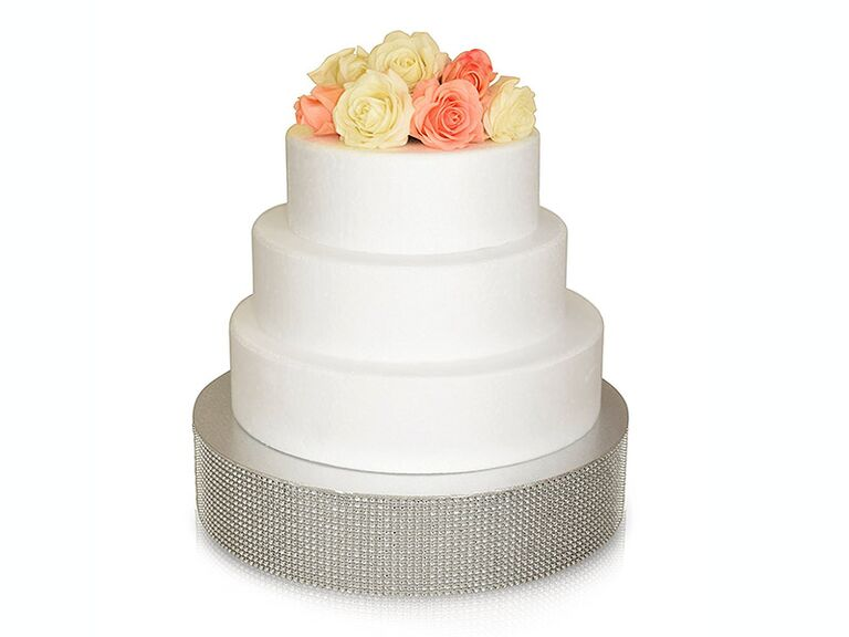Bedazzled wedding cake stand